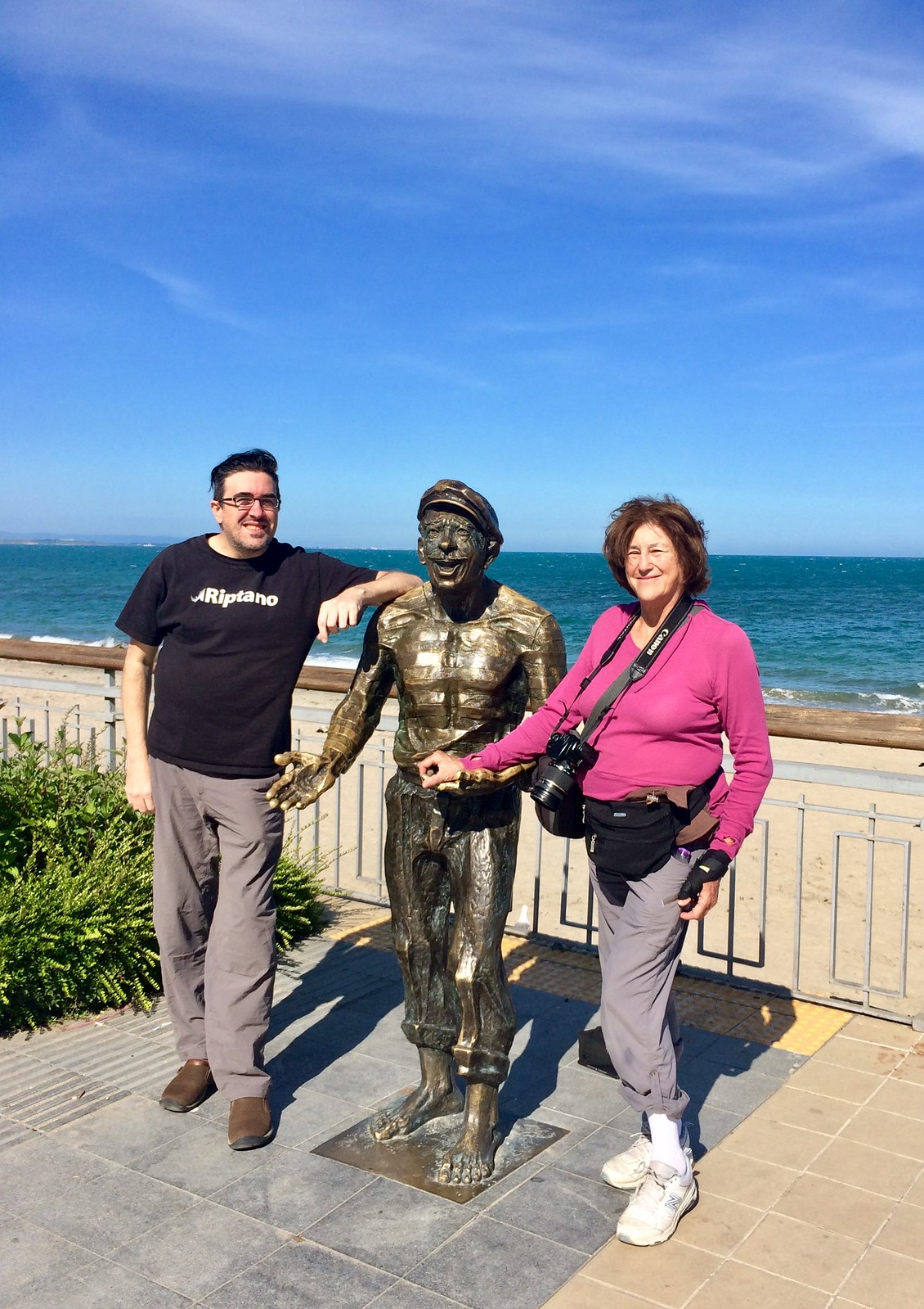201705 - Balkans - Me, Mom, Sailor Statue - 22 of 95 - Ancient City of Nessebar - Burgas, May 24, 2017