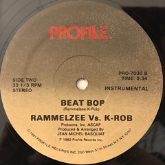 RAMELZEE VS. K-ROB:BEAT BOP(LABEL SIDE-B)
