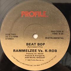 RAMELZEE VS. K-ROB:BEAT BOP(LABEL SIDE-B)