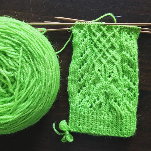 Working on the greenest of green socks. #knitting #sockknitting