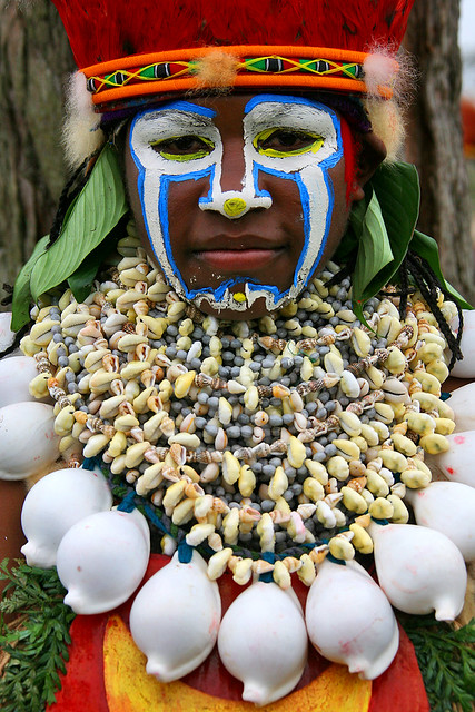 Papua New Guinea - shells decoration