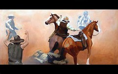Blazing Saddles Painting