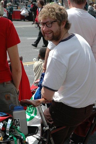 carl larson at the Rose fest parade