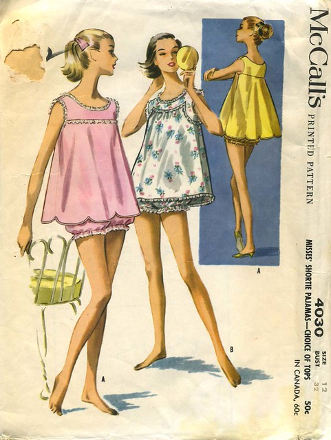 Baby Doll Pajamas 1957 I Love The Swing Style Back So