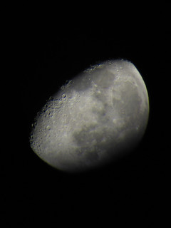 Loony.   Another moon shot taken with my new telescope.
