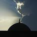 angel over mosque in hatta, UAE by paradiz