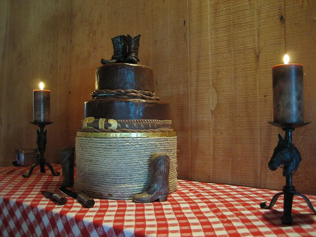 Cowboy Wedding Cake This is almost identical to this one except I think the