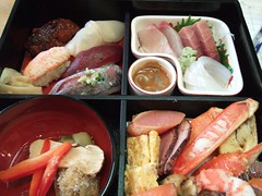 meal, lunch, fish, ekiben, makunouchi, food, dish, cuisine, asian food, osechi, bento,