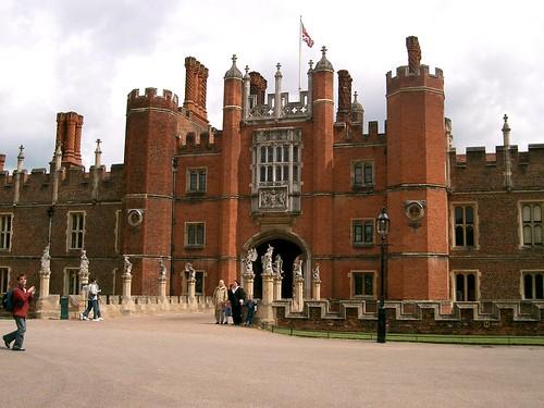 Outside Hampton Court Palace