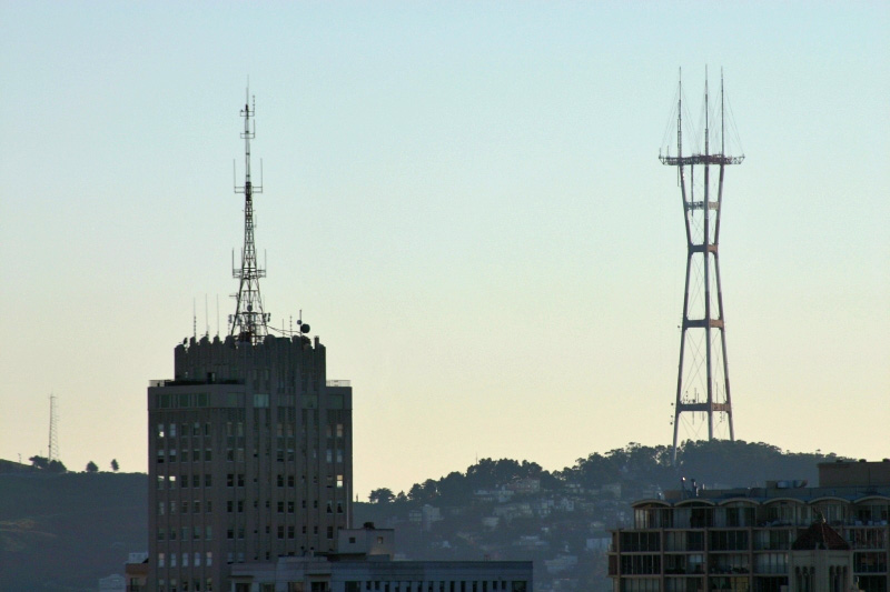 Clay-Jones and Sutro towers