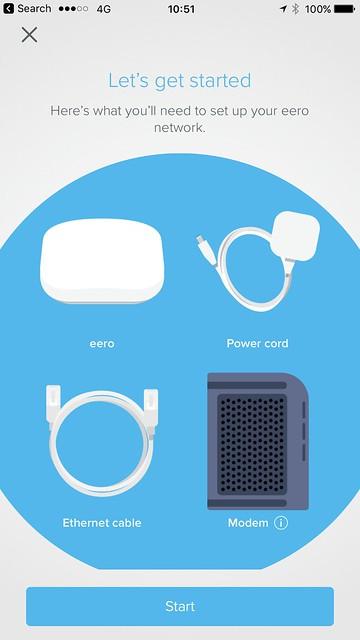 eero iOS App - Setup - #1