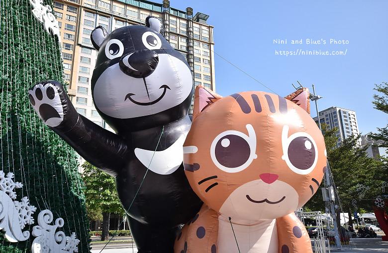 台中市府廣場耶誕夜遊樂園09