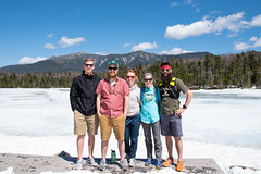 The gang at Lonesome Lake