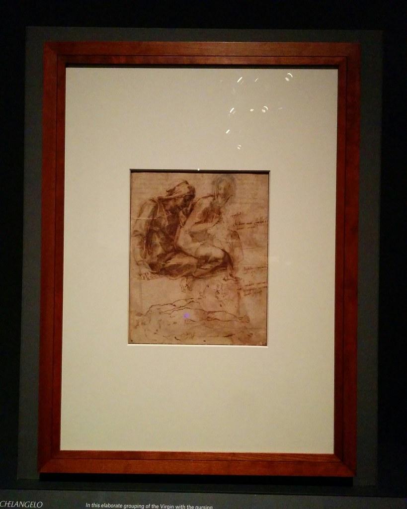 Studies for the Virgin and Child with Saint Anne #newyorkcity #newyork #metmuseum #metmichaelangelo #michaelangelo #drawing #latergram