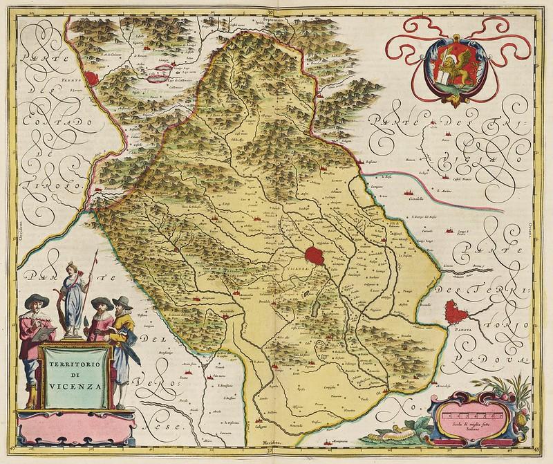 Joan Blaeu - Territorio di Vicenza (1665)