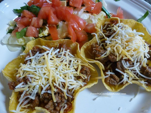 Taco Salads at From My Carolina Home