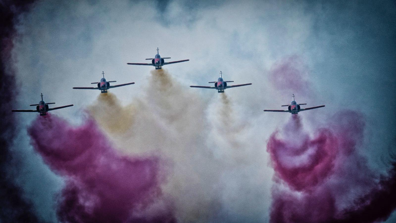 La Patrulla Águila se convierte en la gran protagonista de la Feria Aeronáutica de Berlín