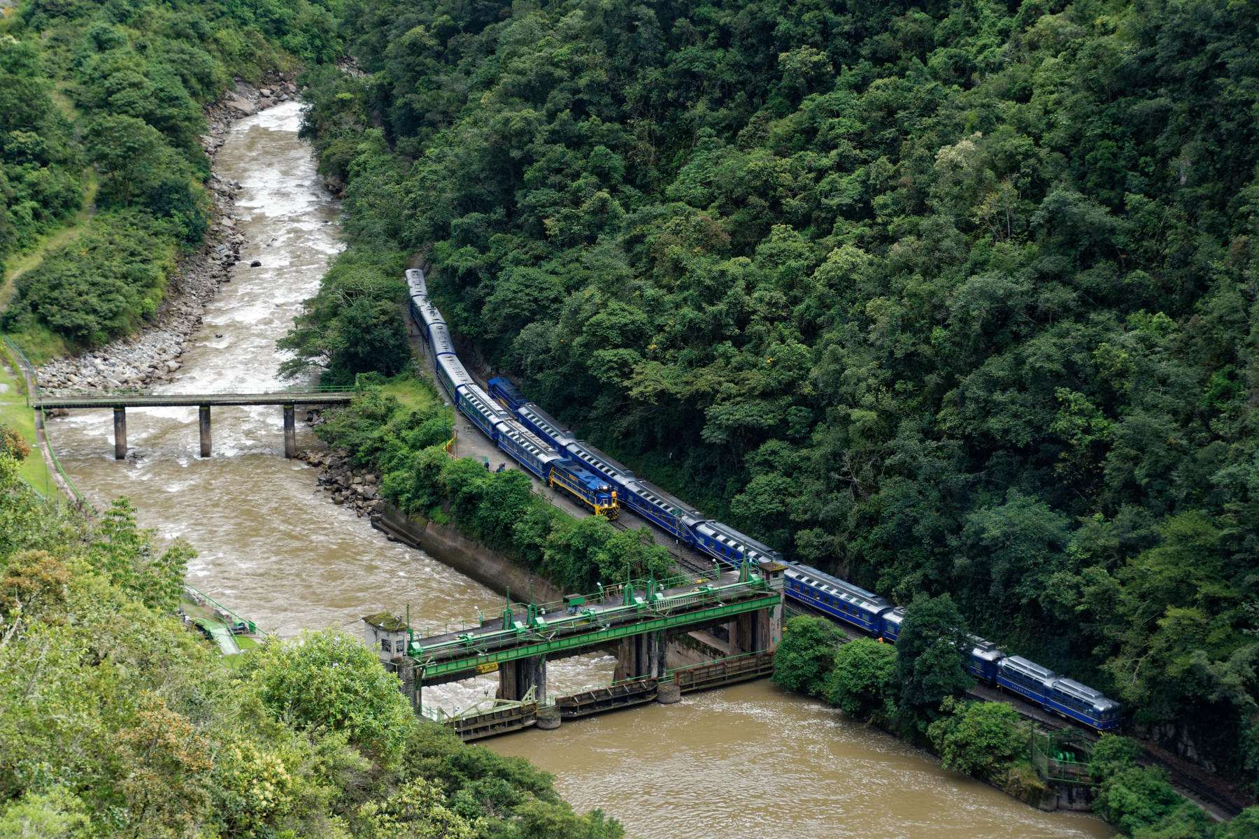 PeruRail Trains Crossing