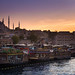 Sunset on the Golden Horn, Istanbul by Aicbon