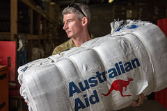 NEMO distribution of Aust Aid emergency supplies