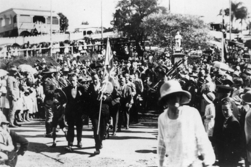 Anzac Day at Manly, Brisbane, in Queensland, Australia, 1922.