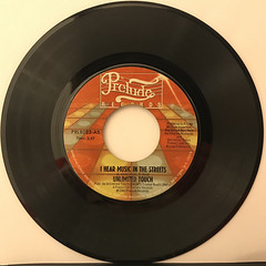 UNLIMITED TOUCH:I HEAR MUSIC IN THE STREETS(RECORD SIDE-A)