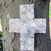 Rustic Ancient Anasazi Indian Pottery Shards Cross Mosaic Art