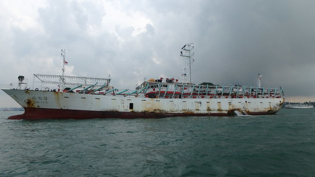 Deep sea fishing vessel at Singapore port