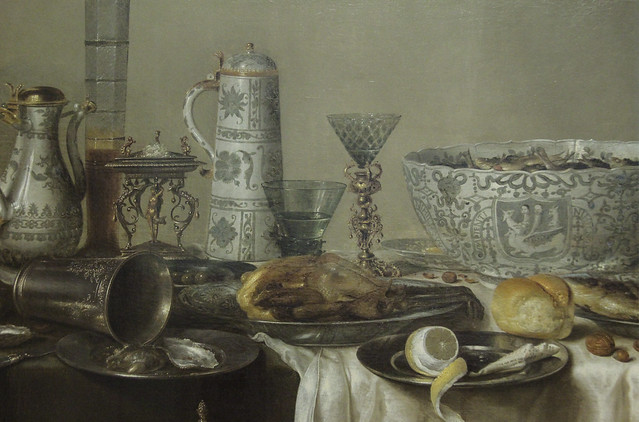 Detail - Ornate Still Life, Willem Claesz. Heda, 1638