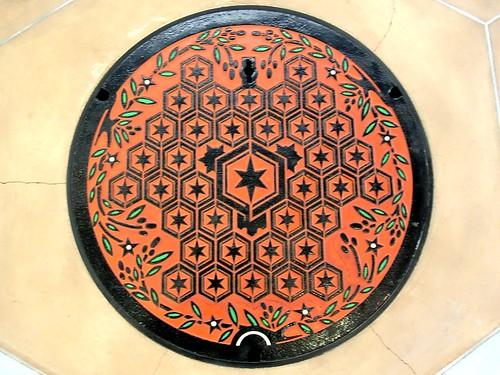 Hikone Shiga, manhole cover 2 (滋賀県彦根市のマンホール2)