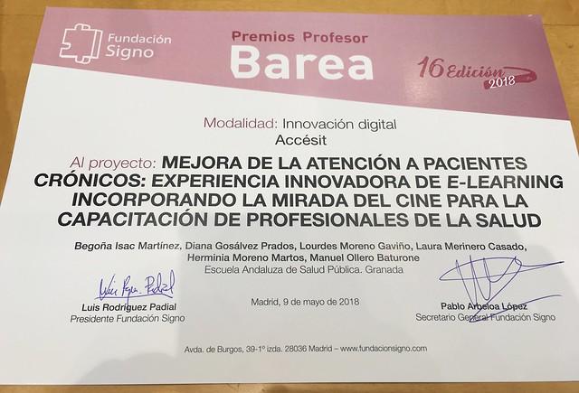 Premio Profesor Barea 2018