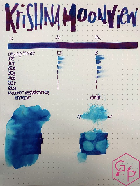 Krishna Inks Moonview Fountain Pen Ink Review @PenChalet 6