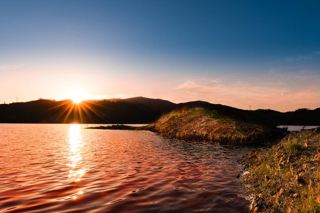 Pôr do Sol na Barragem de Odelouca