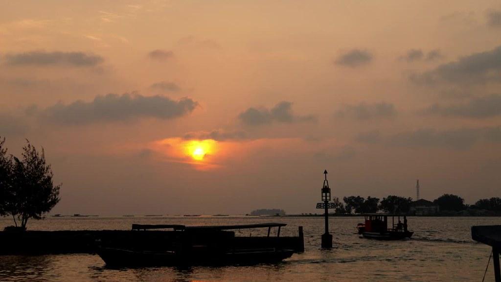 Sunset at Pramuka Island, Jakarta