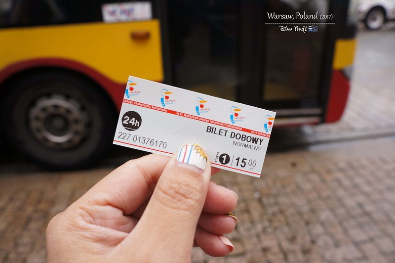 2017 Europe Warsaw Bus 24 Hours Ticket