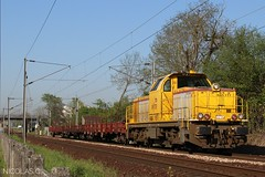 BB (6)60171 + wagons plats - MA100 - Train n°349170 Achères-Triage > Argenteuil-Triage