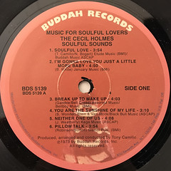 THE CECIL HOLMS SOULFUL SOUNDS:MUSIC FOR SOULFUL LOVERS(LABEL SIDE-A)