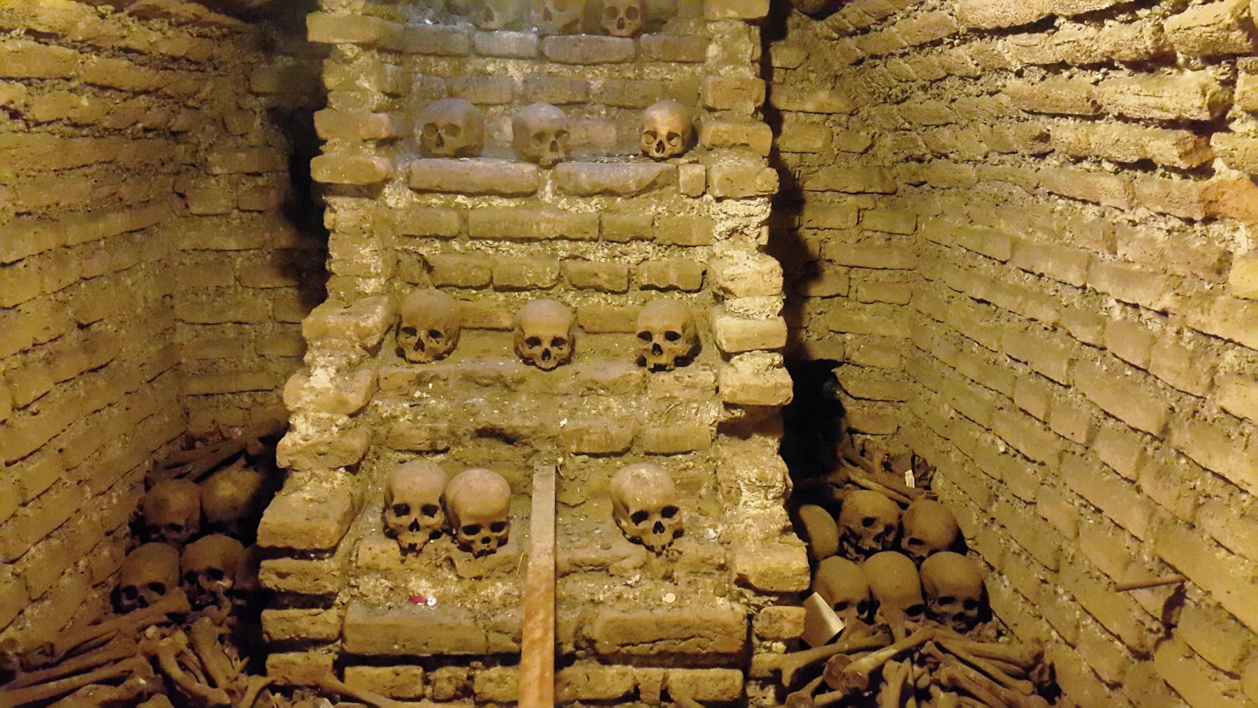 Macabre scenes in the catacombs