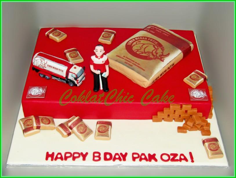 Cake Semen Merah Putih PAK OZA 30x45cm