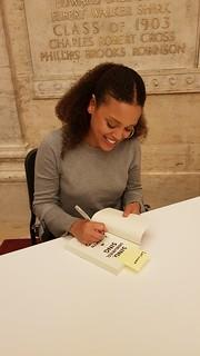 Jesmyn Ward signs my copy of Sing Unburied Sing