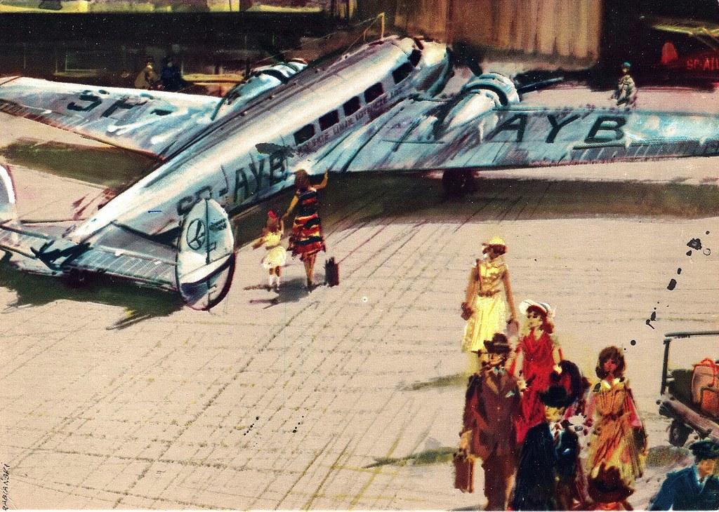 Janusz Grabiański - LOT - Polish Airlines - Lockheed Electra Super 14-H