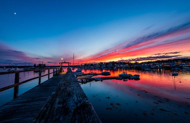 Summer Sunset in Boothbay, Nikon D750, AF-S Zoom-Nikkor 14-24mm f/2.8G ED