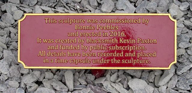 Peebles Horse Sculpture Plaque