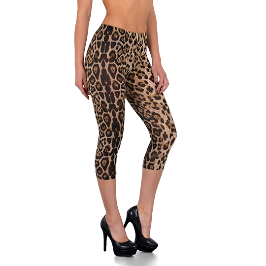 SALE Damen Capri Leggings Legging Leggins Leopard Design Leo Tiger Muster L16