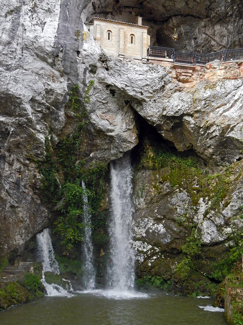 Waterfall at the Sanctuary in Covadonga, Spain