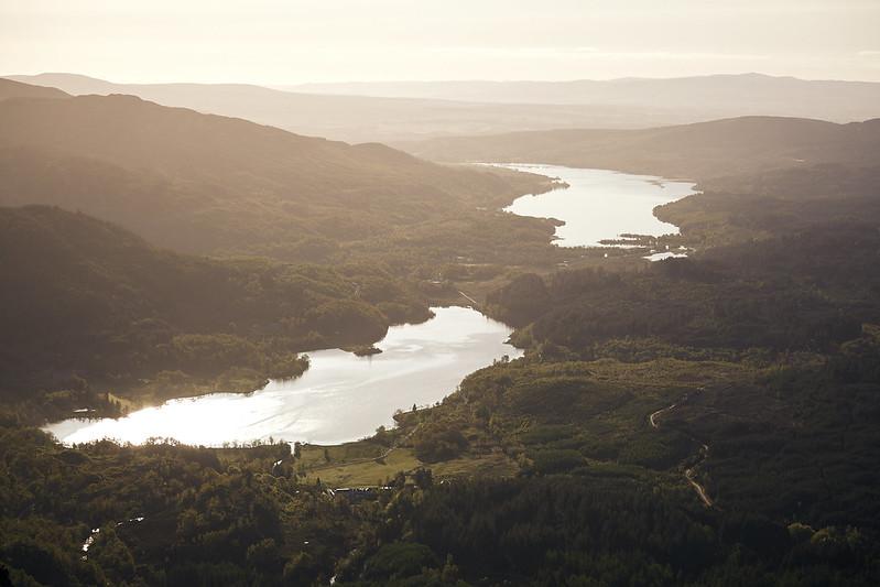 Loch Achray & Loch Venahar from Ben Venue [5D2_7024]