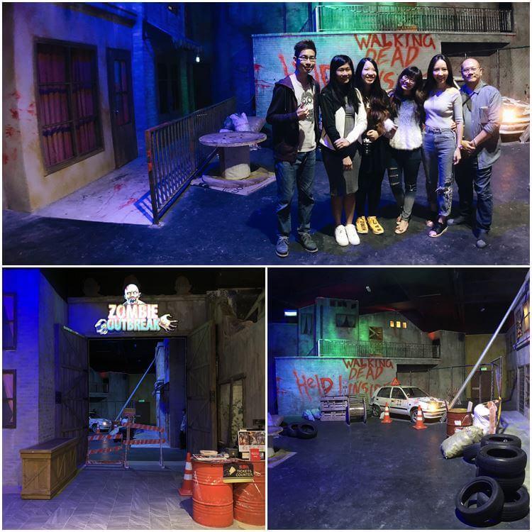 Zombie haunted house