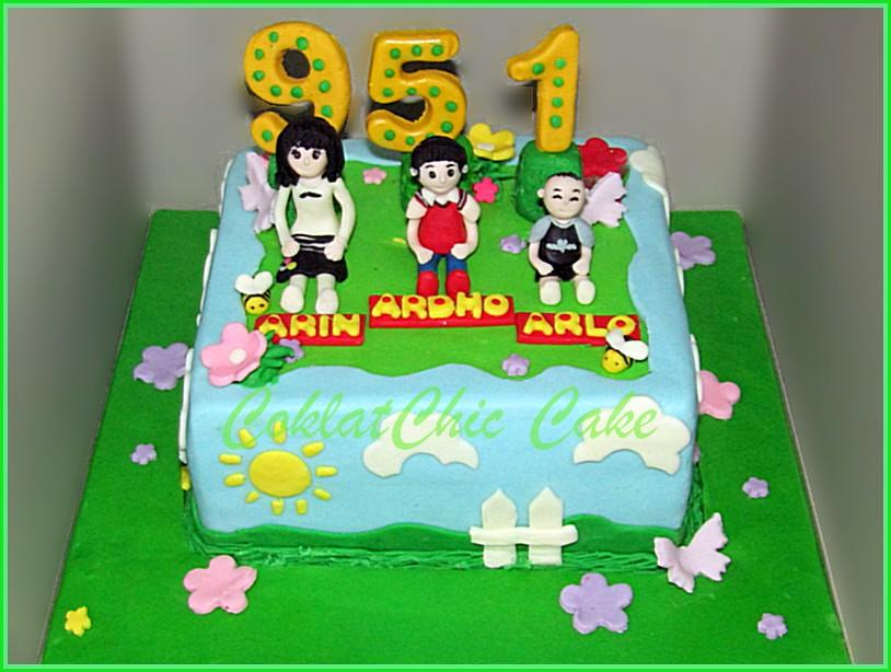 Cake Family ARIN ARDHO ARLO 15 cm