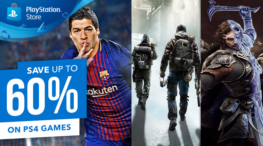 Save up to 60% on select PS4 games on PlayStation Store