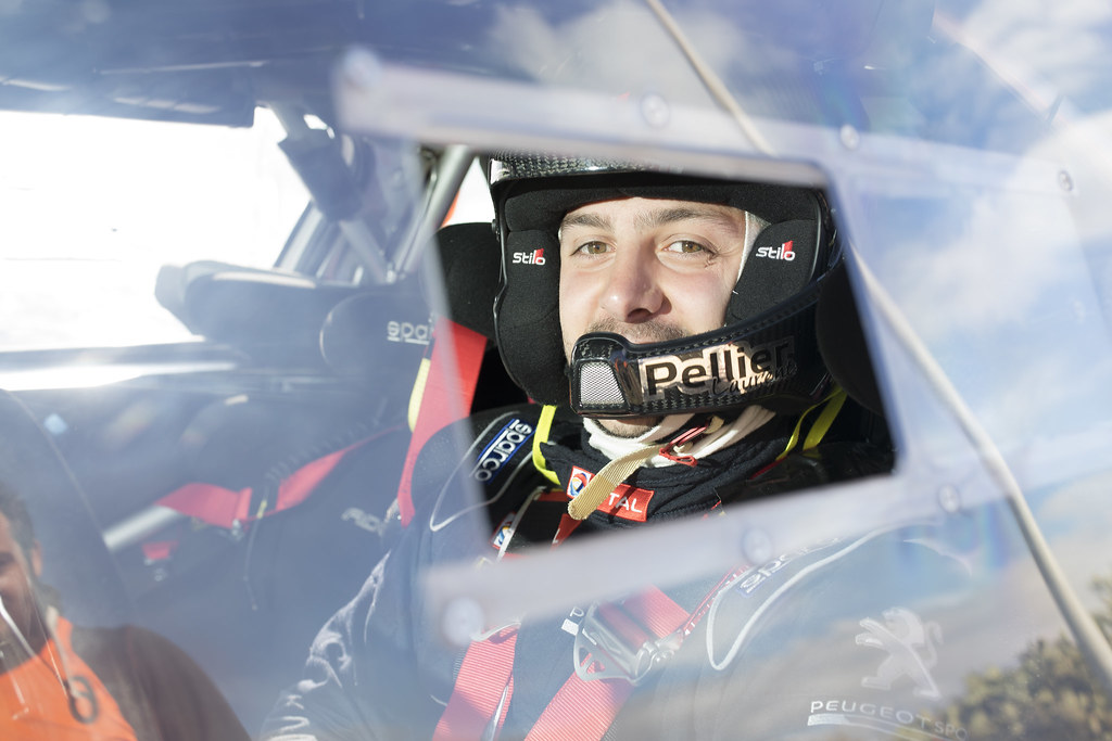 PELLIER Laurent (fra), COMBE Geoffrey (fra), PEUGEOT RALLY ACADEMY, PEUGEOT 208 T16, portrait during the 2018 European Rally Championship ERC Rally Islas Canarias, El Corte Inglés,  from May 3 to 5, at Las Palmas, Spain - Photo Gregory Lenormand / DPPI